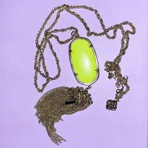 Neon Yellow Rayne Necklace
